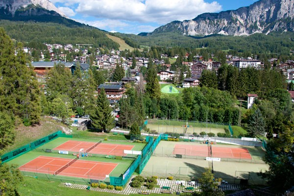 I campi del Tennis Country Club Cortina